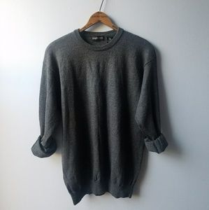 Vintage Loose Fit Basic Wool Long Sleeve Sweater